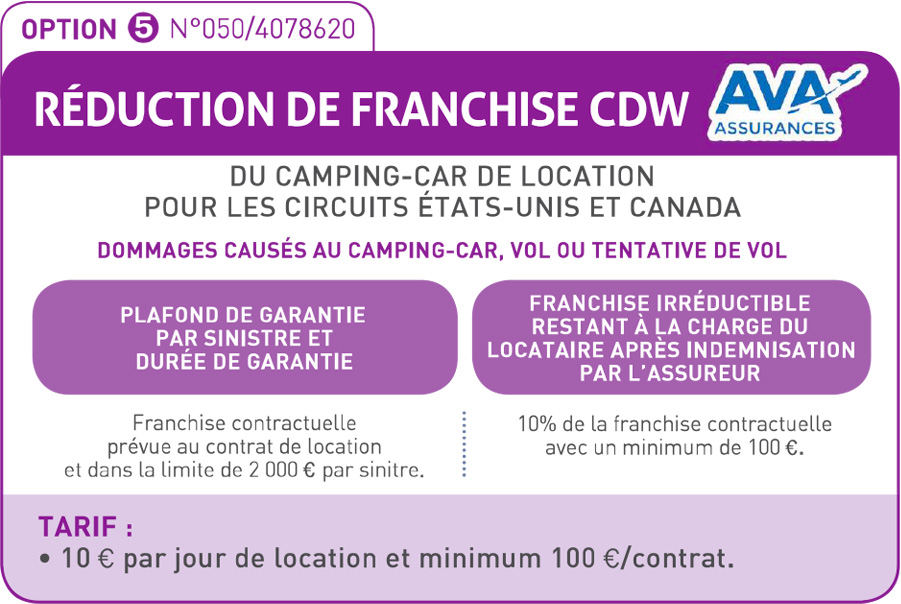 Réduction de franchise CDW